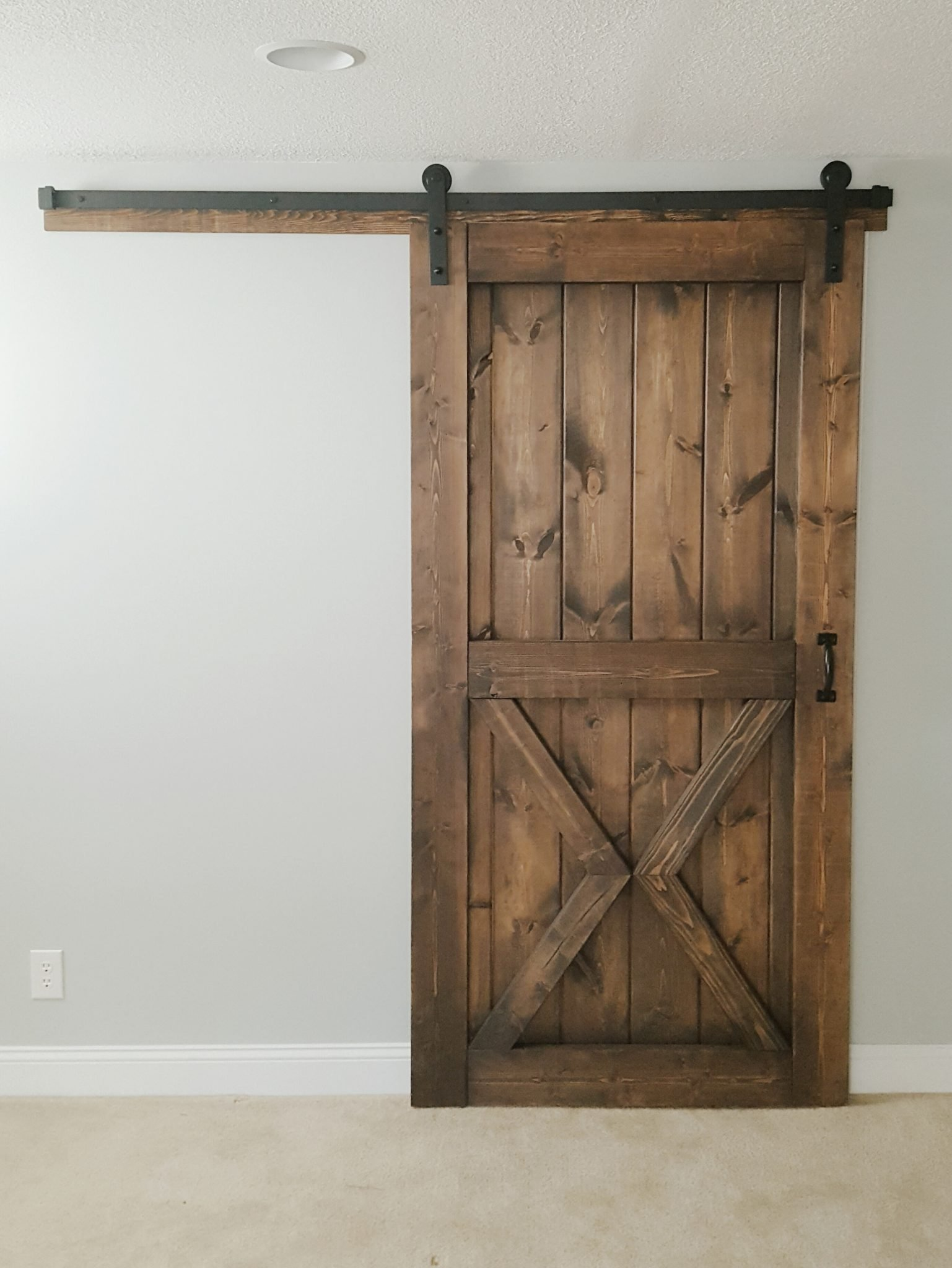 Barn door sliding 2 panel x style walston door company for The barn door company