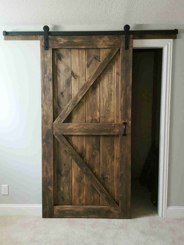 Sliding Barn Door - 2 Panel Z Style