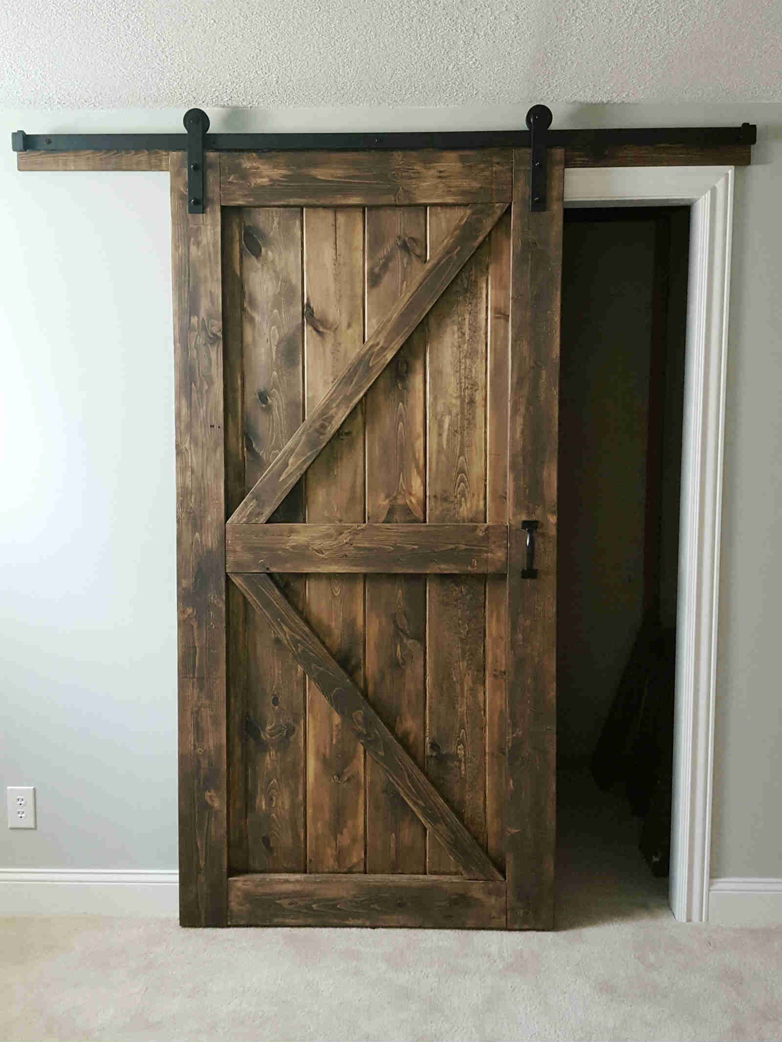 Merveilleux Sliding Barn Door   2 Panel Z Style