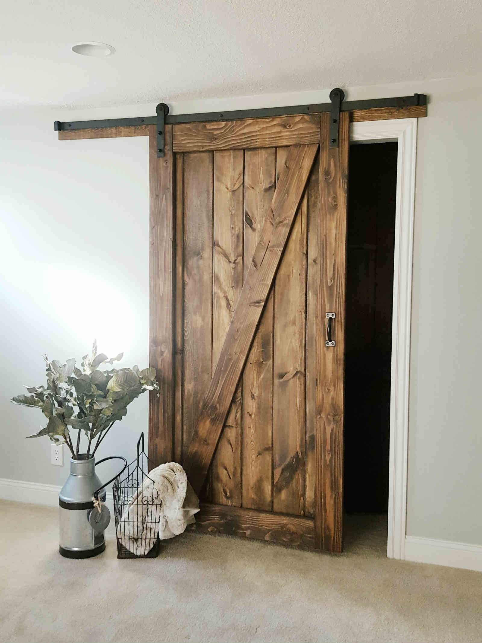 Barn door sliding 1 panel z style walston door company for The barn door company