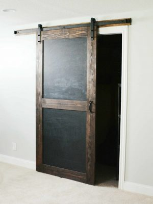 chalkboard barn door