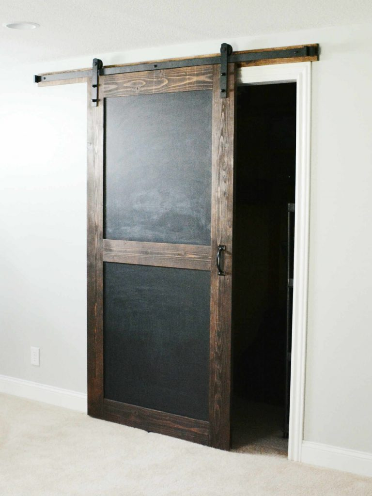 Chalkboard sliding barn door walston door company for The barn door company