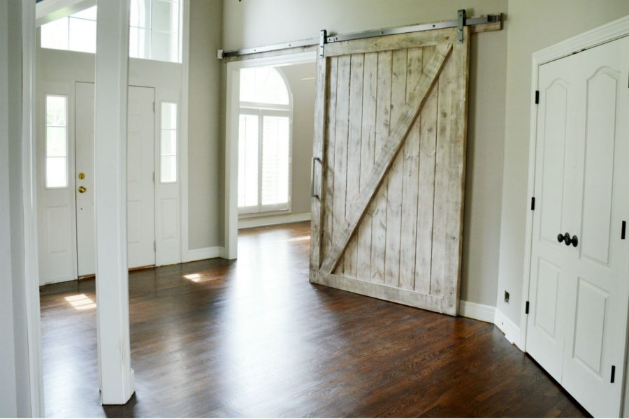gray wash barn door