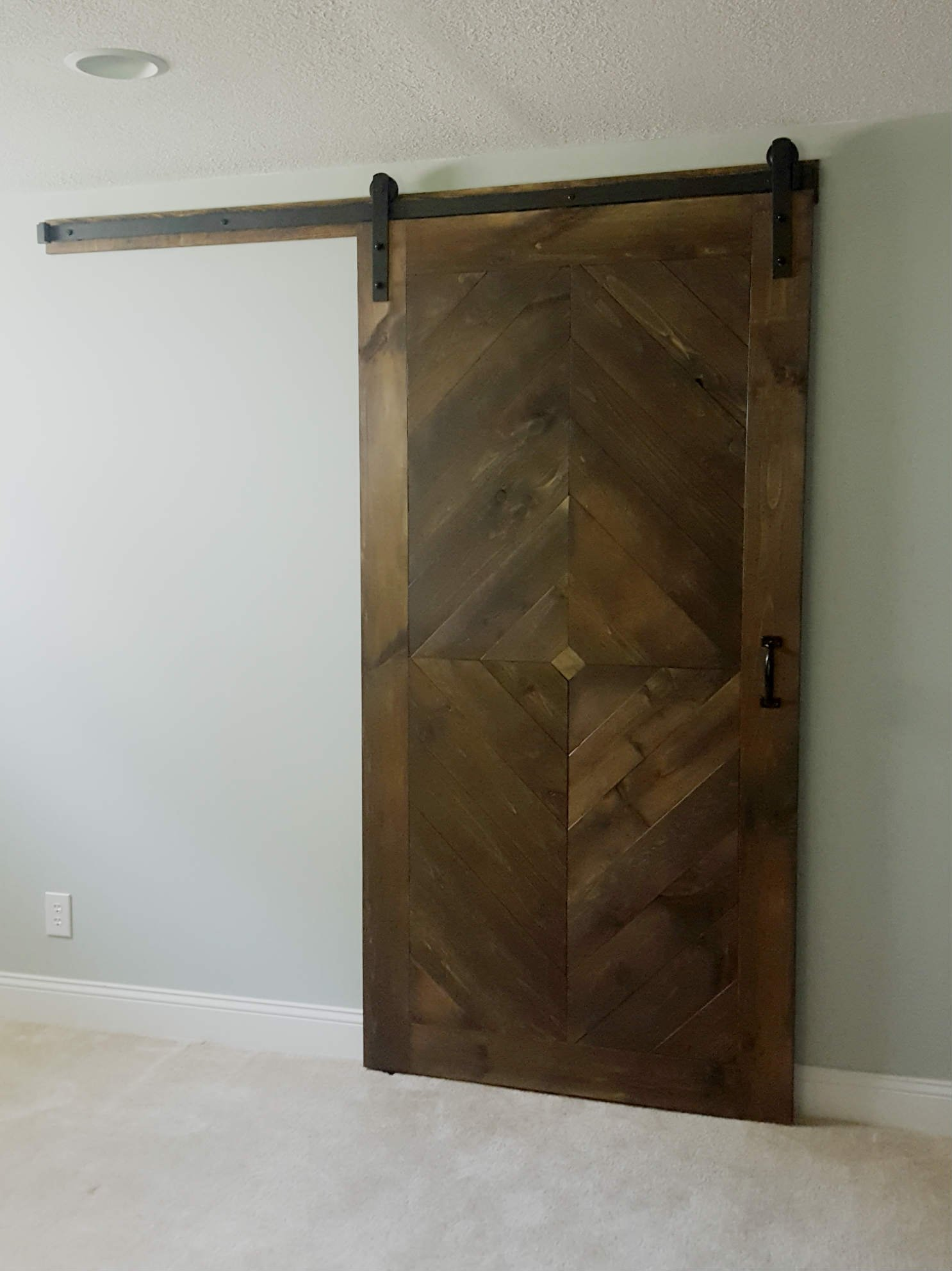 Diamond sliding barn door walston door company for The barn door company