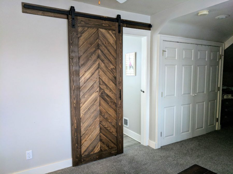 chevron sliding barn door