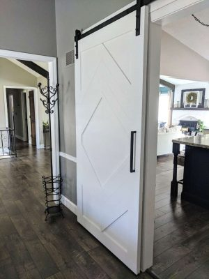 Hollow Diamond Painted Barn Door