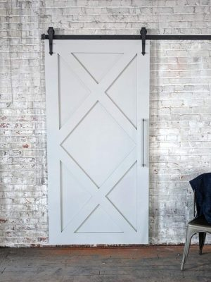 painted double x barn door